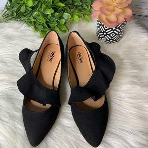 Mossimo Velvety Ruffle Ballet Flats Shoes 7.5